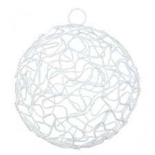 White Woven Metal Mesh Decoration - 75mm