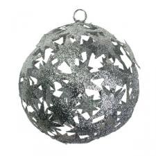 Silver Die Cut Bethlehem Star Decoration - 100mm
