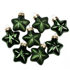 Green Glass Stars - 8 x 40mm