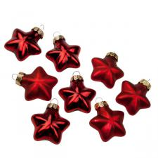 Red Glass Stars - 8 x 40mm