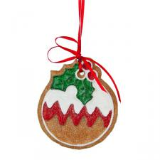 Gisela Graham Pudding Decoration - 8cm