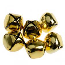 Gold Shiny Christmas Jingle Sleigh Bells - 12 x 5cm