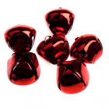 Red Shiny Christmas Jingle Sleigh Bells - 12 x 5cm