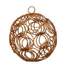 Copper Glittered Filligree Decoration - 75mm