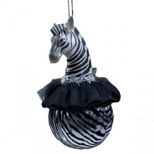 Zebra Head Ball With Black Trim - 10cm
