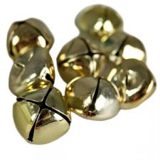 Pack Of 27 Gold Shiny Jingle Bells - 25mm