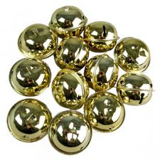 Tube Of 12 Gold Shiny Jingle Bells - 38mm