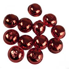 Tube Of 12 Red Shiny Jingle Bells - 38mm
