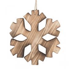 Wooden Snowflake - 15 X 16cm