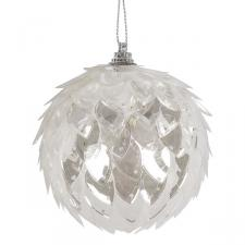 Clear Sequin Ball Hanging Decoration - 80mm