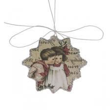 Starburst Shaped Nostalgia Paper Hanging Decoration