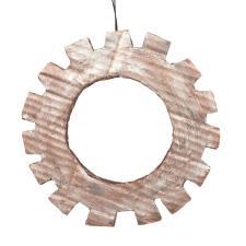 Copper & Platinum Steam Punk Cog Hanging Decoration - 21cm