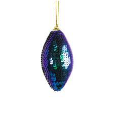 Blue & Green Sequin Drop Hanging Decoration