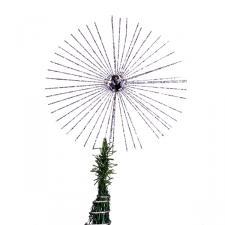 Gisela Graham Silver Glitter Jewel Starburst Tree Topper - 35cm