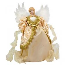 Cream & Gold Angel Tree Topper - 35cm