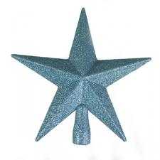 Ice Blue Glitter Finish Tree Top Star -20cm