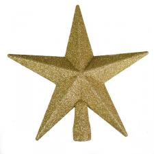 Gold Glitter Finish Tree Top Star -20cm