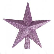 Pink Glitter Finish Tree Top Star -20cm