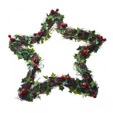 Gisela Graham Star Twig Wreath Approx 30cm Diameter