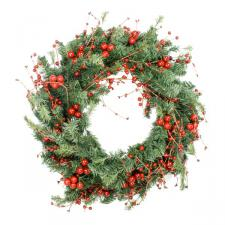 Mixed Red Berry Wreath - 56cm