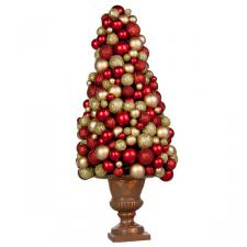 Rich Red & Gold Bauble Berry 37cm Mini Tree