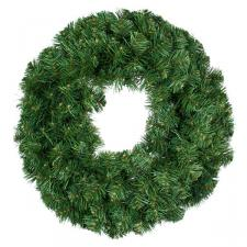 Natural Effect Green Pine Double Sided Wreath - 45cm