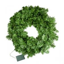 Prelit Battery Operated Artificial Imperial Pine Green Wreath - 50cm