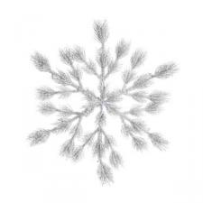Frosted Green Foliage Snowflake Wreath - 88cm