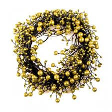 Glitter Berry Range - Gold 25cm Candle Ring