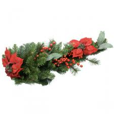 Mixed Pine & Poinsettia Outdoor Teardrop - 75cm