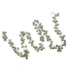 Silver Matt Mini Jingle Bells Garland - 1.3m