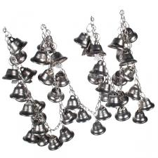 Metal Garland With Antique Silver Bells - 1m In Length