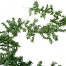 Canadian Pine Green Artificial Garland - 2.7m