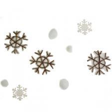 White Snowflake Garland - 120cm