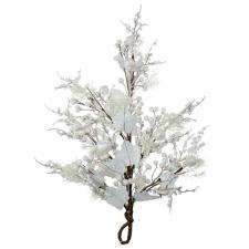 White Festive Hanger With Fruits Decoration - 56cm