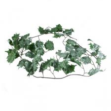 Green Glittered Holly Garland - 1.8m