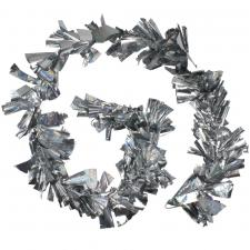 Holographic Giant Silver/Silver Laser Mix Luxury Rag Garland - 2.7m x 25cm