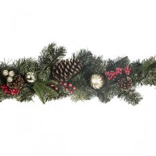 Red Berry And Natural Pine Cone Range - 1.8m Garland
