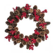 Berry & Pinecone Range - 55cm Wreath