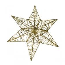 3D Hanging Gold Glitter 50cm Star Decoration