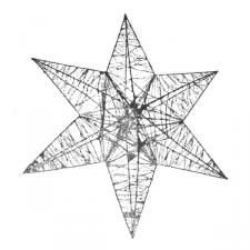 3D Hanging Silver 50cm Star Decoration