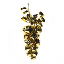 Gold Jingle Bell Grape Cluster Hanging Decoration - 15cm