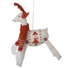Hanging Fabric Reindeer Decoration