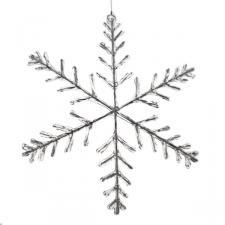 91.5cm X 5cm White Contemporary Design Snowflake Decoration