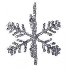 Gisela Graham Silver 3D Hologram Snowflakes - Set Of 2
