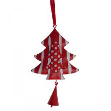 Hanging Red And White Tree - 12cm