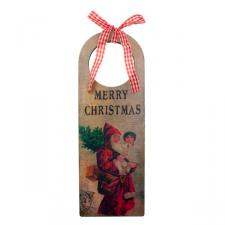 Gisela Graham Nostalgia Merry Christmas Door Hanger - 22cm