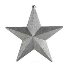 Silver Glittered Shatterproof Star - 30cm