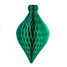 Green Flame Resistant Honeycomb Paper Bauble - 80 x 46cm