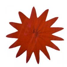 Red Paper Flame Retardant Rosette - 50cm